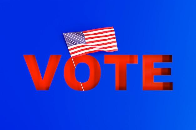 Vue de face du concept d'élections usa