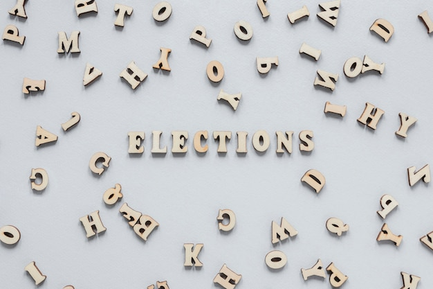 Vue de face du concept des élections