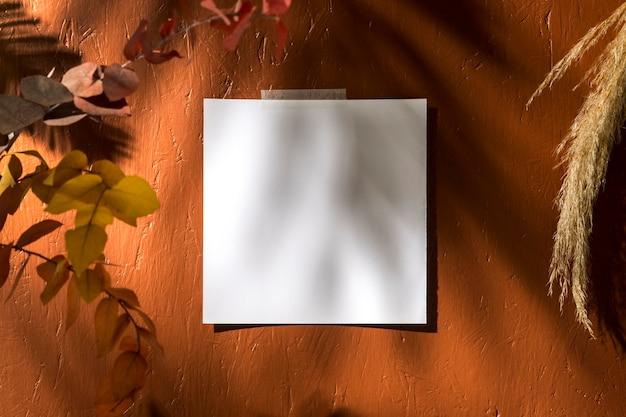 Vue de face du concept de moodboard automne