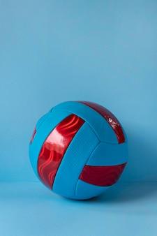 Vue de face du football avec espace copie