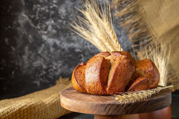 Vue de face du pain frais
