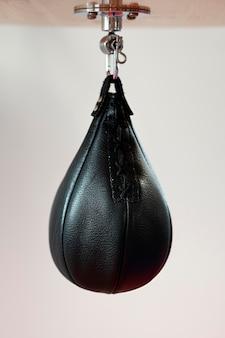 Vue de face de l'équipement de boxe