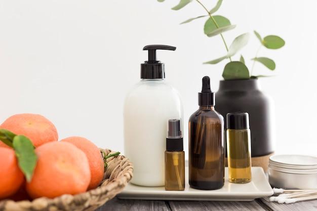 Vue de face des huiles essentielles