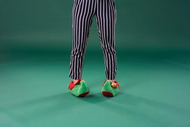 Vue de face des jambes de l'elfe