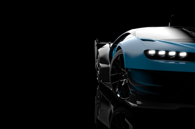 Vue de face d'une voiture moderne générique et sans marque