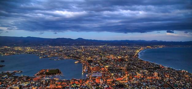 Une vue fantastique sur la ville de hakodate