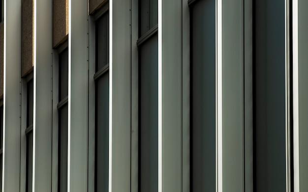 Vue des fenêtres dans une rangée