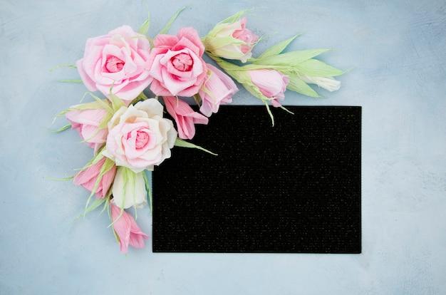 Vue florale ornementale vue de dessus