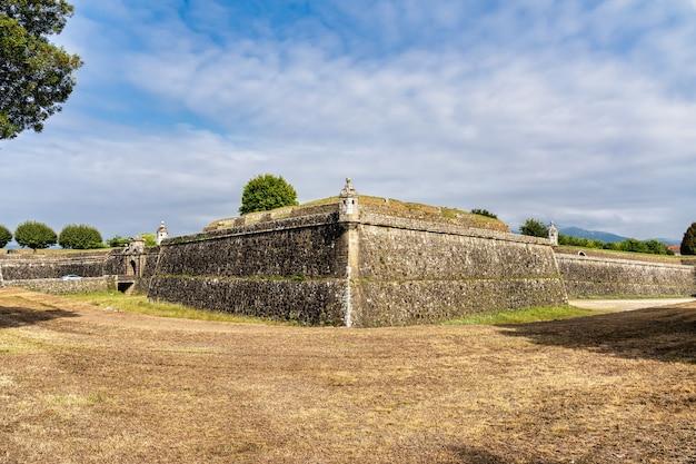 Vue de la forteresse de valença do minho au portugal