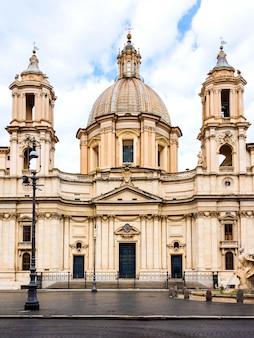 Vue frontale, de, sant agnes, église, à, navona, place, rome, italie