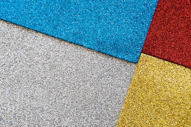 Vue grand angle de fond de texture multi paillettes colorées