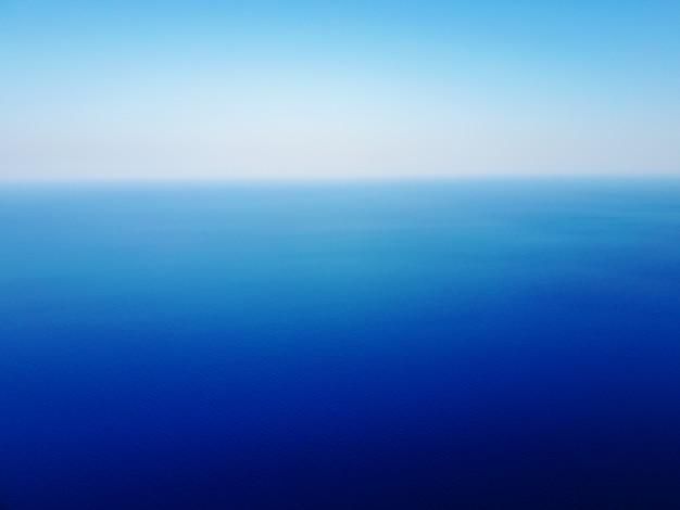 Vue horizontale des yeux d'oiseau de la mer exotique avec une ligne de séparation.