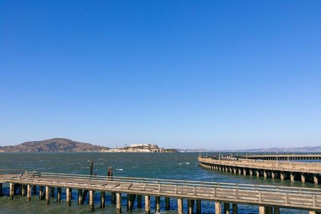 Vue de l'île d'alcatraz à san francisco