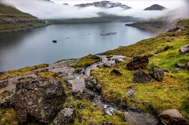 Vue des îles féroé