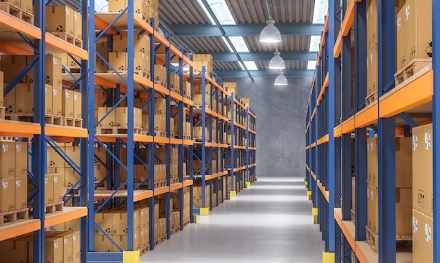 Vue intérieure de l'entrepôt
