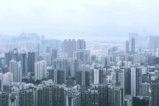 Vue de kowloon depuis la colline de lion rock