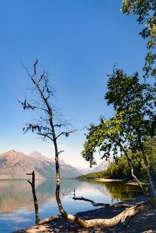 Vue sur le lac mcdonald au montana