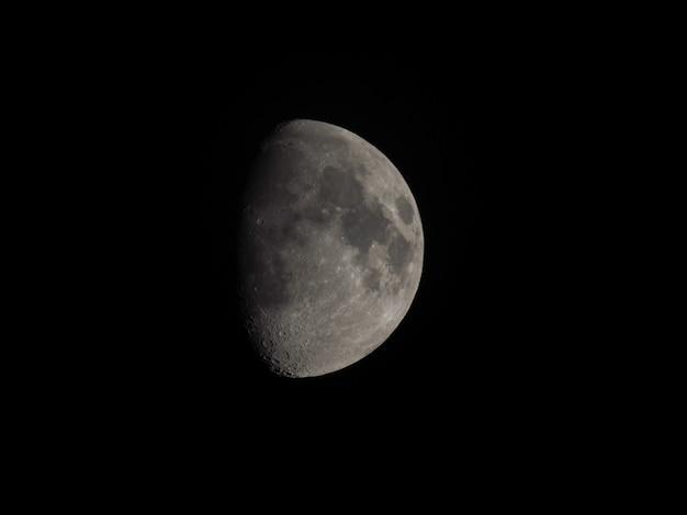 Vue sur la lune