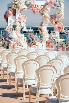 Vue magnifique sur le lieu du mariage