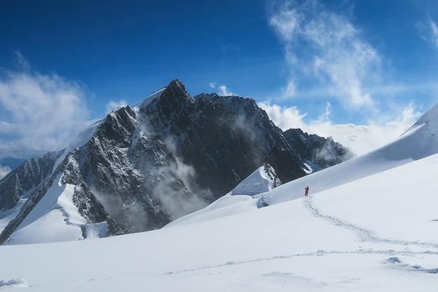 Vue magnifique sur les montagnes et les glaciers