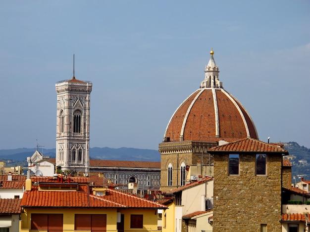 La vue sur les maisons anciennes à florence, italie