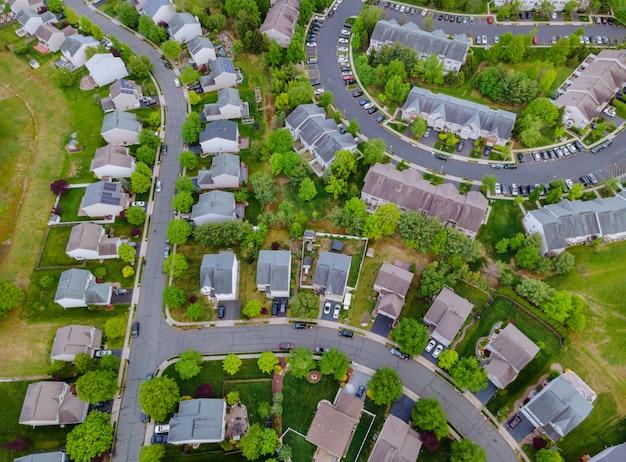 Vue de maisons dans un quartier