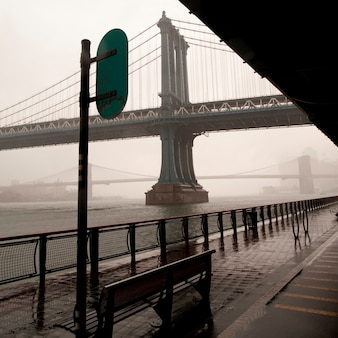 Vue, de, manhattan pont, dans, manhattan, new york, usa