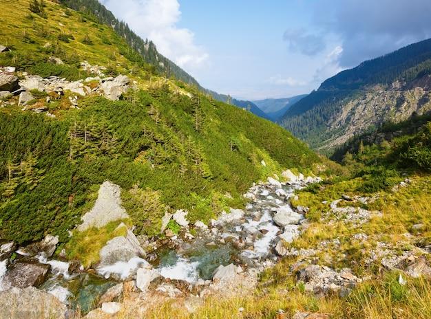 Vue sur la montagne d'été depuis la route transfagarasan
