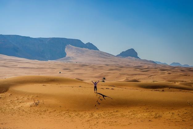 Vue sur la montagne à fujairah