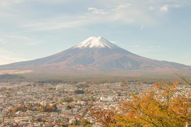 Vue sur la montagne fuji en saison d'automne, au japon.