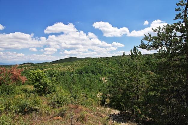 La vue sur les montagnes de bulgarie