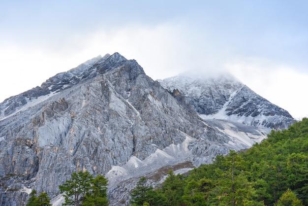 Vue sur les montagnes dans la réserve nationale de yading
