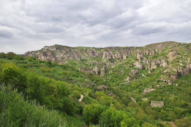 La vue sur les montagnes du caucase, en arménie