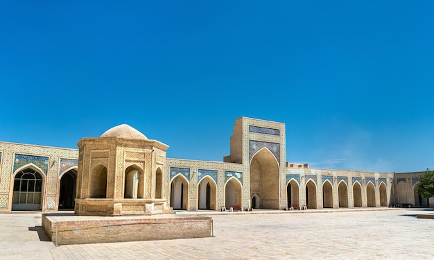 Vue De La Mosquée Kalyan à Boukhara, Ouzbékistan. Asie Centrale Photo Premium