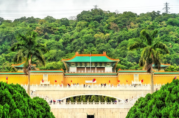 Vue sur le musée du palais national de taipei, taiwan