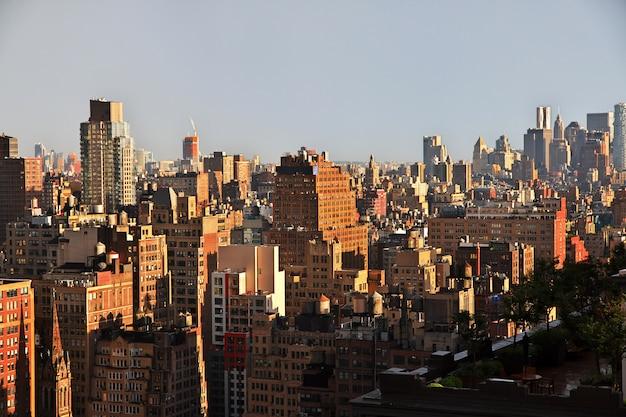 La vue sur new york, états-unis
