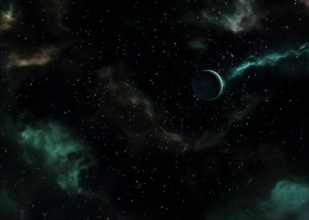 Vue nocturne de la galaxie
