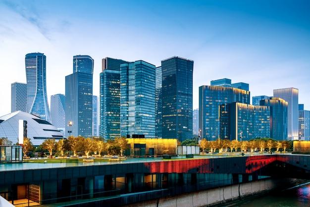 Vue de nuit de hangzhou