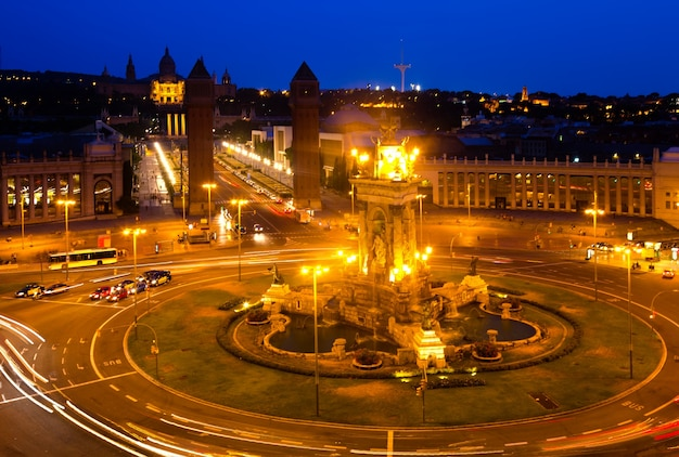 Vue de la nuit de la plaza de españa