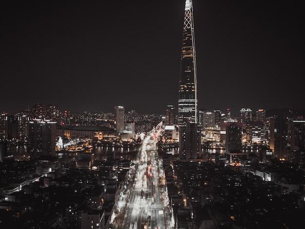 Vue de nuit de séoul