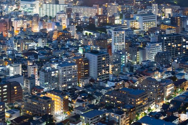 Vue de nuit de tokyo (japon)