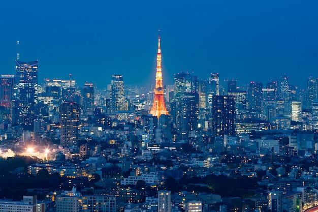 Vue de nuit de tokyo