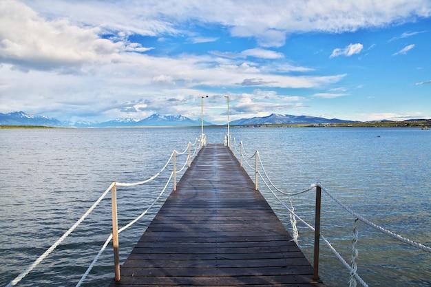 La vue sur l'océan pacifique, puerto natales, chili