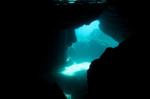 Vue sur l'océan sous l'eau