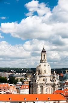 Vue d'oiseau de frauenkirche