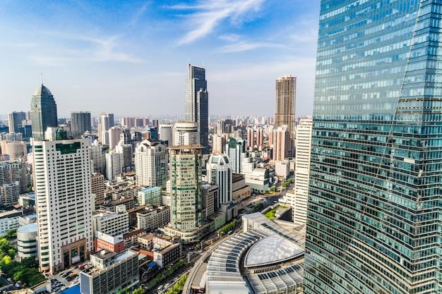 Une vue d'oiseau de shanghai