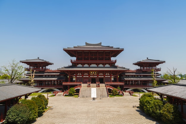 Vue de la pagode chinoise traditionnelle