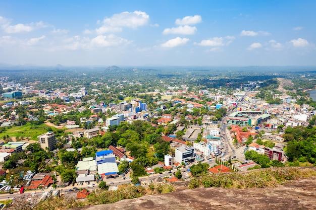 Vue panoramique aérienne de la ville de kurunegala