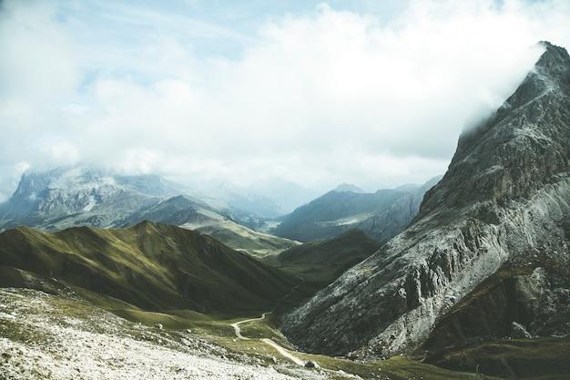 Vue panoramique sur les alpes
