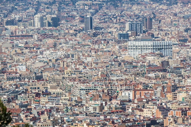 Vue panoramique de barcelone